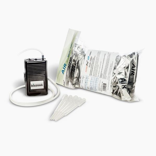 Air-Set mit Pumpe + 50 x 2 g Air instant Sticks (100g) + 30 Lochpipetten