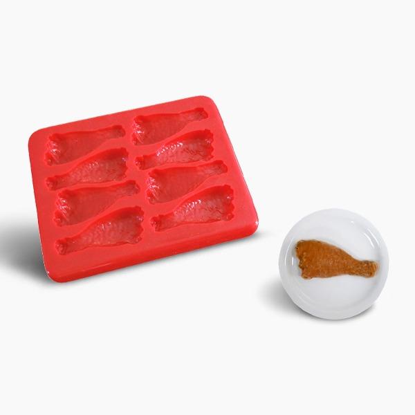 Smoothfood Silikonform Hähnchenschenkel mit Deckel