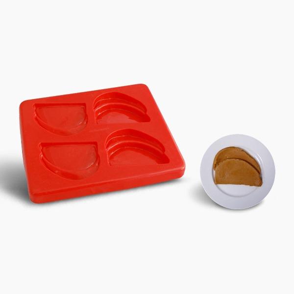 Smoothfood Silikonform Bratenscheibe mit Deckel
