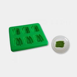 Smoothfood Silikonform Grüne Bohnen mit Deckel (6 Nutzen)