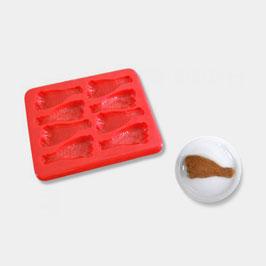 Smoothfood Silikonform Hähnchenschenkel mit Deckel (8 Nutzen)