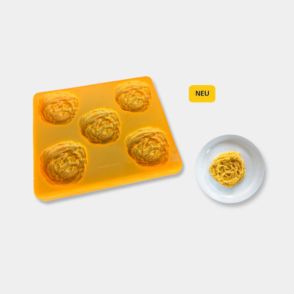 Smoothfood Silikonform Pasta mit Deckel (5 Nutzen)