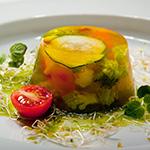 Gemüsesülzchen mit Kräuter Dressing